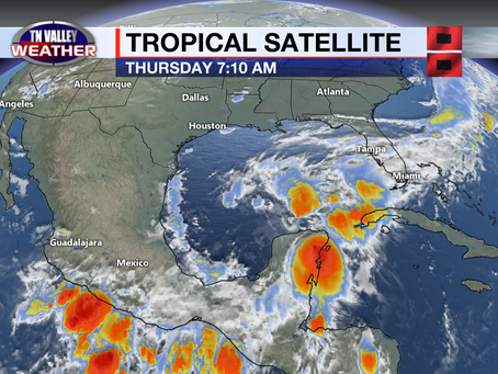 Watching the Gulf of Mexico system still.  Quiet weather through Friday locally.