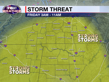 Evening look at storm potential for late Thursday night into Friday morning.  Threat increasing?
