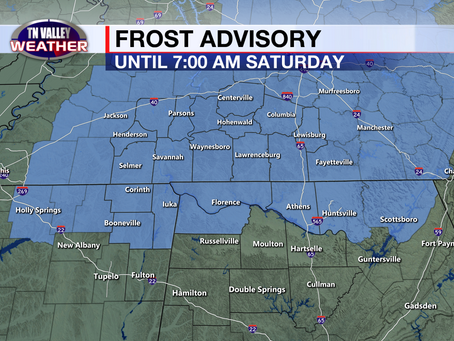 First frost of the season tonight?  Temperatures warming into next week.
