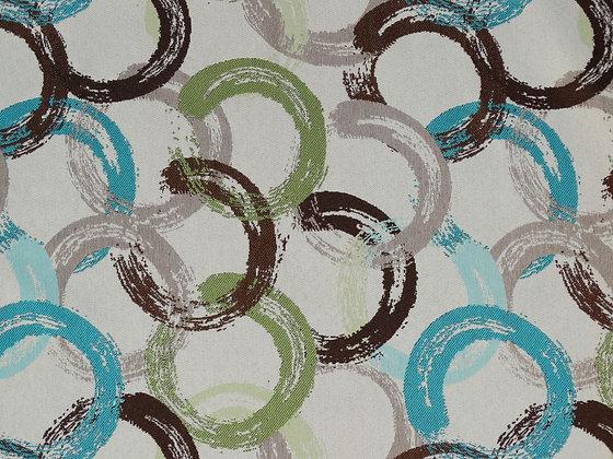 Brushed Circle Turquoise