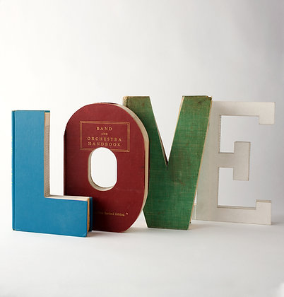 "Bride/Groom ""LOVE"" Book Letter Set"