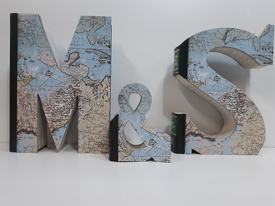 Custom Map Covered Initials