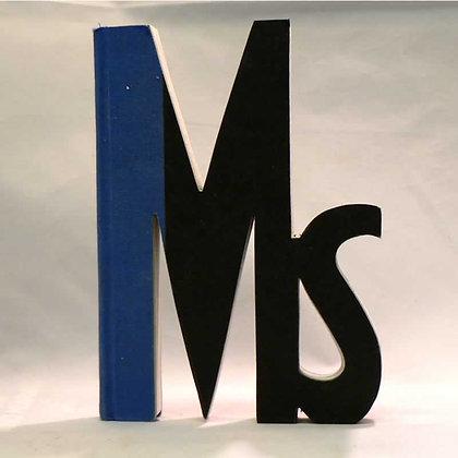 """""""Ms"""" Salutation Book Letter"""