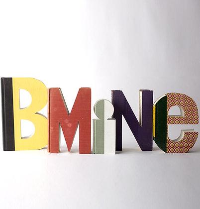 "Wedding Decor ""BMINE""  Book Letter Set"