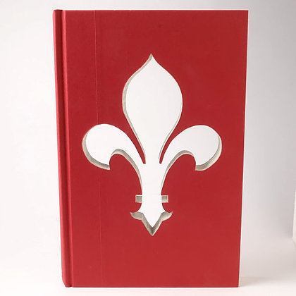 Fleur-de-Lis Silhouette Cut Out Book