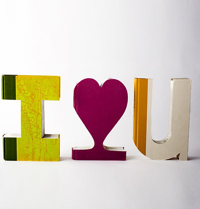 "Groom ""I Heart U""  Book Letter Set"