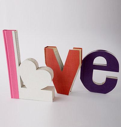 """Wedding """"L Heart ve"""" Letter Set"""