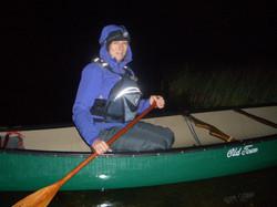 Night paddling