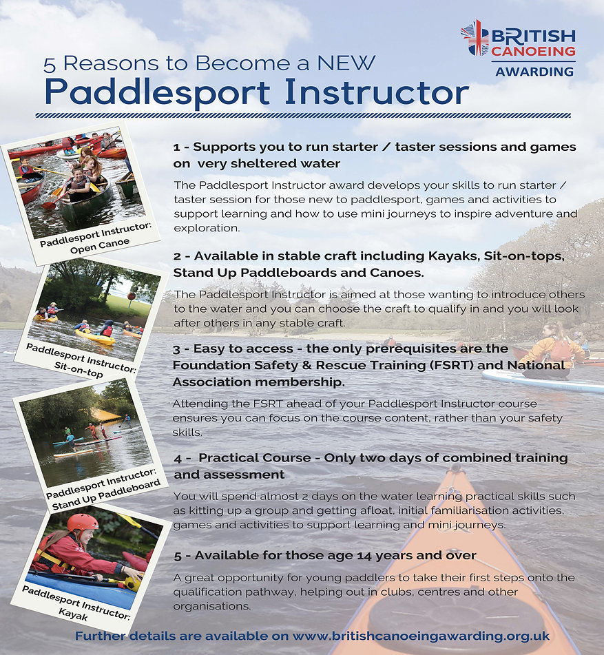 5 Reasons to become a Paddlesport Instru