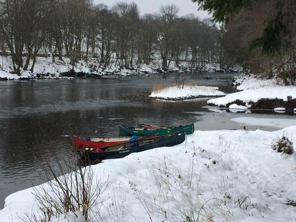 Winter paddling River Teith