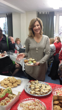 Wassail Party - swapping cookies!