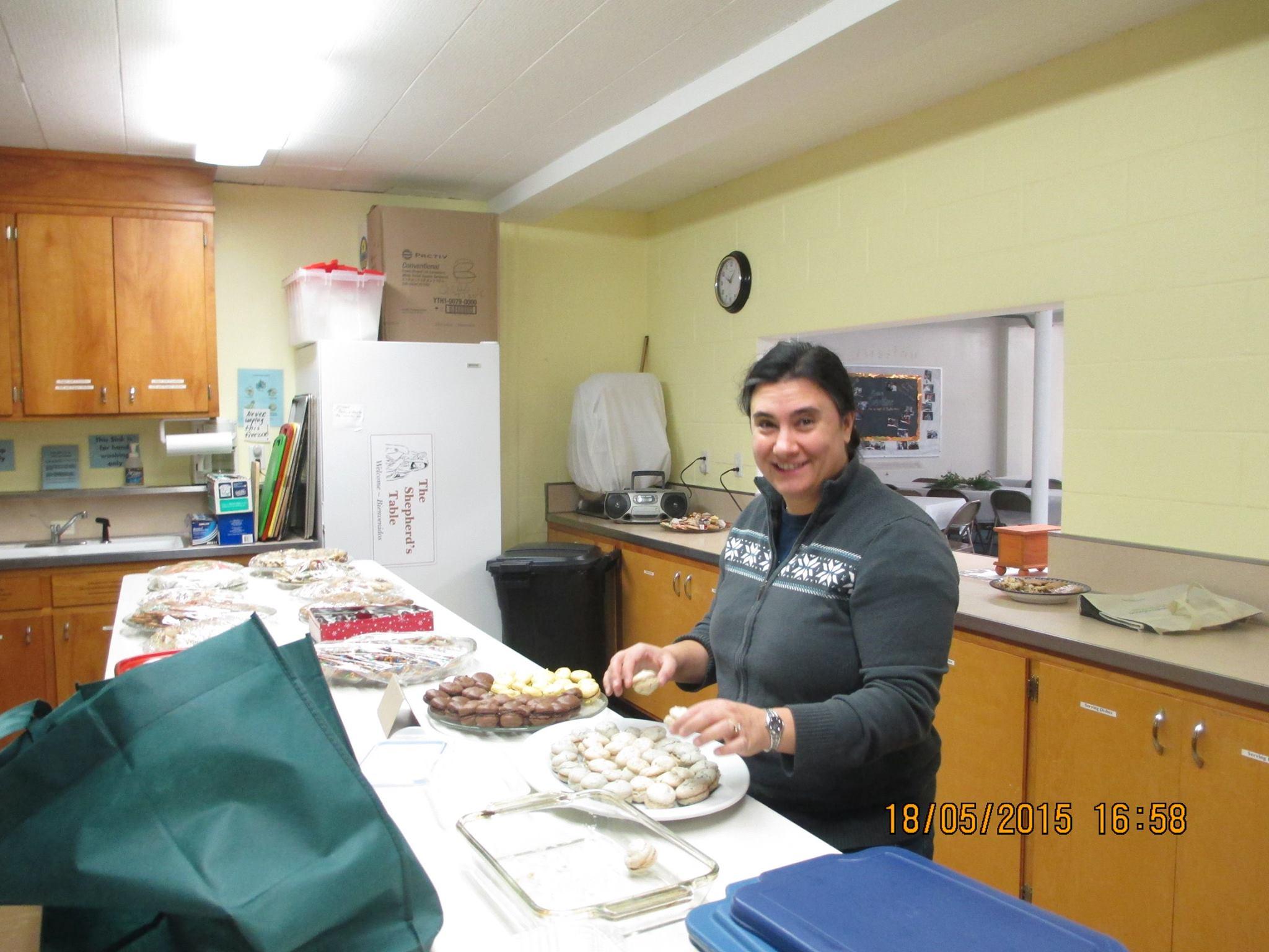 Baking the cookies!