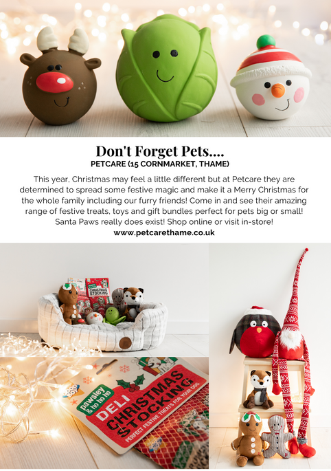 SHOP OX9 CHRISTMAS GIFT & PRODUCT GUIDE 2020 ; THAME REWARDS CLUB ; CHRISTMAS IN THAME ; SHOPPING IN THAME CHRISTMAS ; INDEPENDENT CHRISTMAS SHOPPING ; GIFTS FOR PETS ; PETCARE ; PETCARE THAME ; CHRISTMAS GIFTS FOR ANIMALS THAME