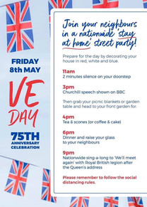 VE Day National Schedule