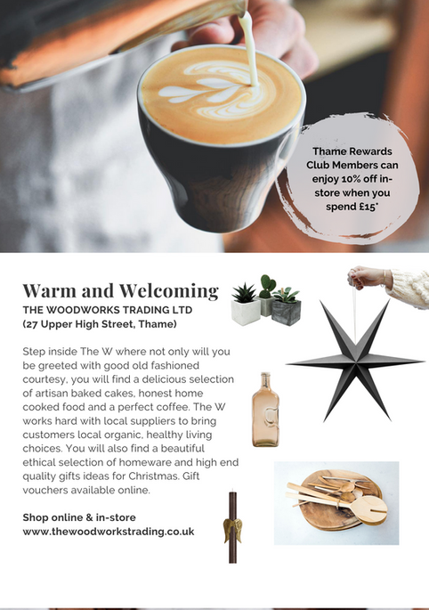 SHOP OX9 CHRISTMAS GIFT & PRODUCT GUIDE 2020 ; THAME REWARDS CLUB ; CHRISTMAS IN THAME ; SHOPPING IN THAME CHRISTMAS ; INDEPENDENT CHRISTMAS SHOPPING ; Woodworks Trading Ltd ; HOMEWARE GIFTS FOR CHRISTMAS OXFORDSHIRE