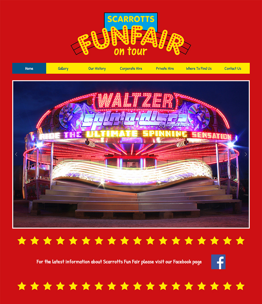Scarrotts Funfair website