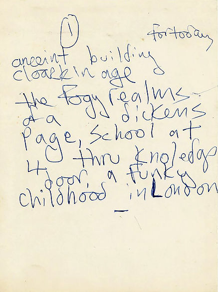 Marc Funky London Childhood handwritten