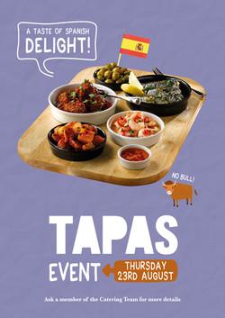 A4 Tapas Event poster