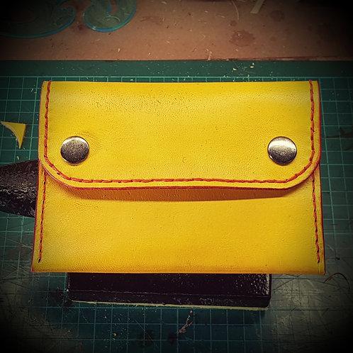 Borsellino portafogli in cuoio lavorato interamente a mano