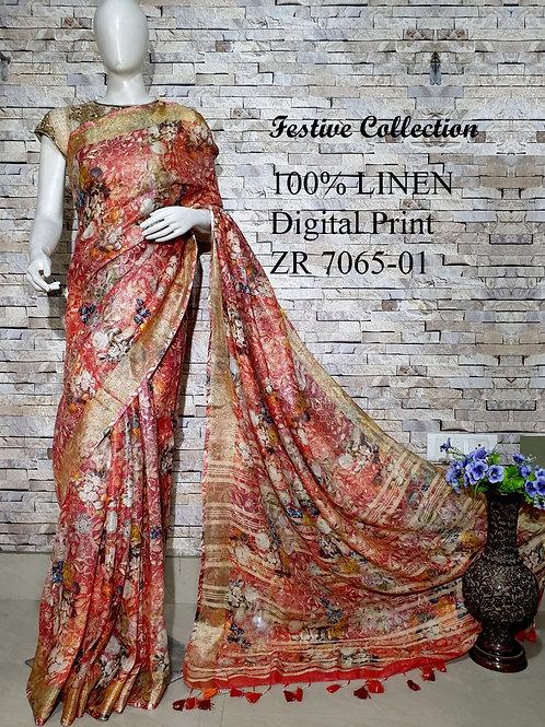 100% Linen Silk