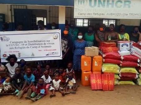 Fêtes de fin d'année, RESYNAM-Togo donne de la joie aux réfugiés du camp d'Avépozo