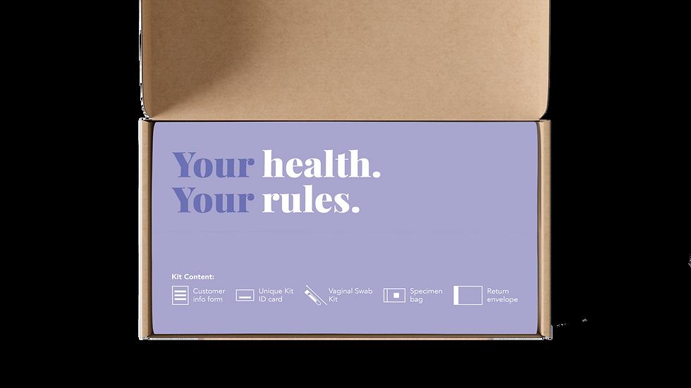 Gonorrhea & Chlamydia Kit For Women