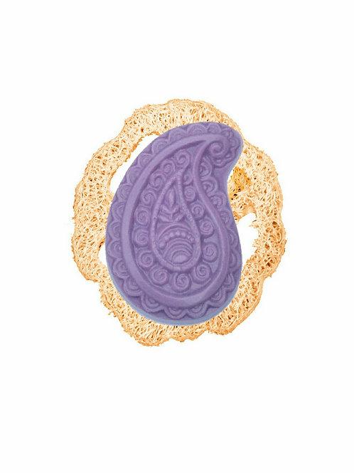 Dusch-Teil Lavendel mit Luffa-Scheibe, Set Duschgel und Luffa Scheibe