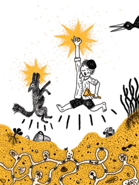 Ilustración de Pablo Picyk para el libro Saltar soga en la noche