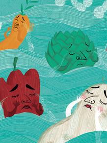 Ilustración de Gabriela Burin para Cualquier verdura