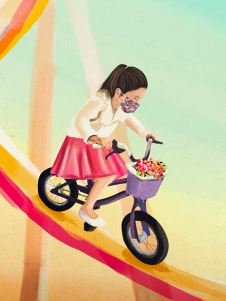 Ilustración de María Sivak para El mundo se dio vuelta como una media