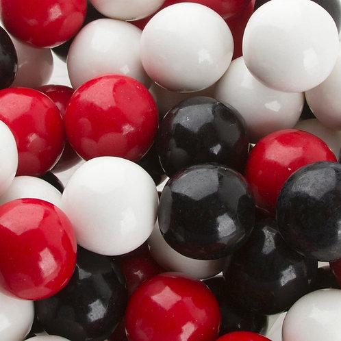 Black, Red & White Tuxedo Custom Gumballs  -  Choose Weight 10 - 60 LBs