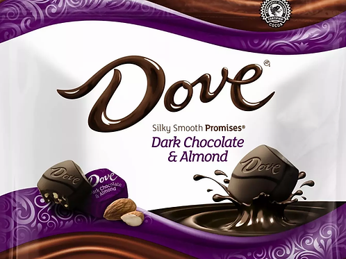 Dove Dark Chocolate Almonds Promises Wrapped candy  2 - 12 LBs