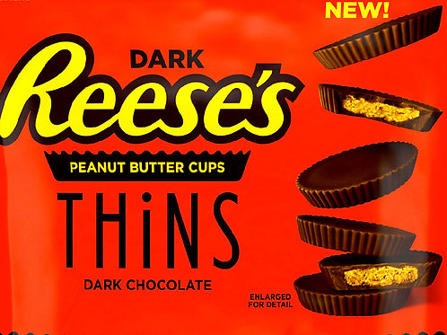 Reese's Thins Dark Chocolate Peanut Butter Cups candy  2 - 12 LBs