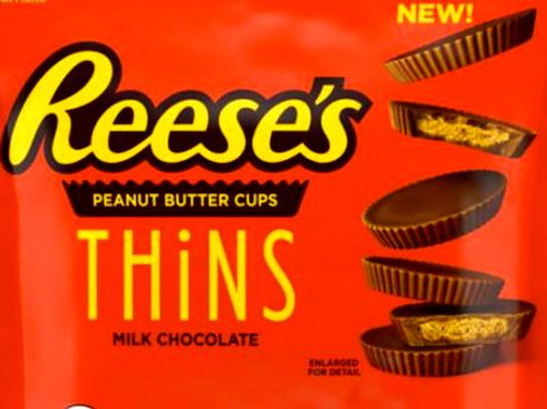 Reese's Thins Milk Chocolate Peanut Butter Cups candy  2 - 12 LBs
