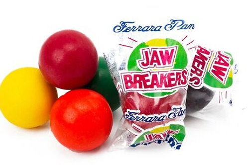 "Jaw Busters 7/8"" Wrapped Jawbreakers Hard Bulk Candy centers   4 - 30 LBs"