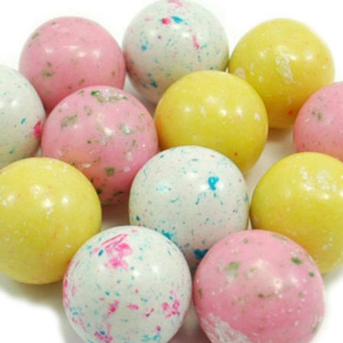 "Birthday Cake Dubble Bubble 1"" Gumballs     Choose Weight   4 - 30 LBs"
