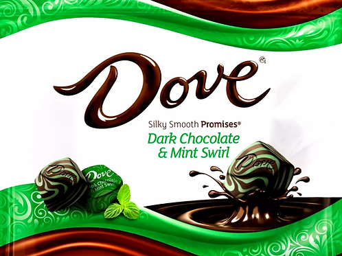Dove Dark Chocolate Mint Swirl Promises Wrapped candy  2 - 12 LBs