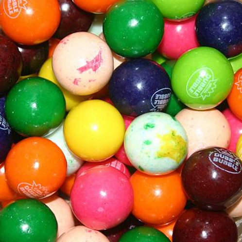"10 Flavor Assorted Dubble Bubble 1"" Gumballs     Choose Weight   4 - 30 LBs"