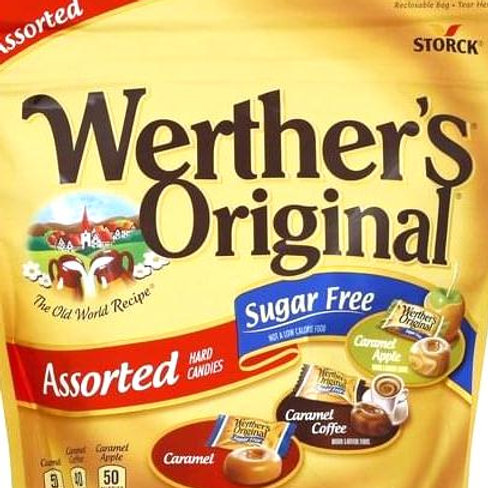 Werther's Sugar Free Assorted Caramel Hard Candy 4 LBs