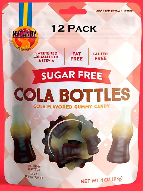 Sugar Free Cola Bottles Gummy Candy - You Choose 12 - 48 Packs