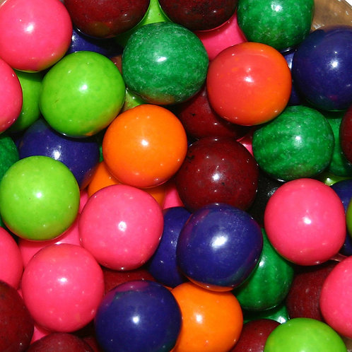 """Fruity Mix Assorted Dubble Bubble 1"""" Gumballs     Choose Weight   4 - 30"""