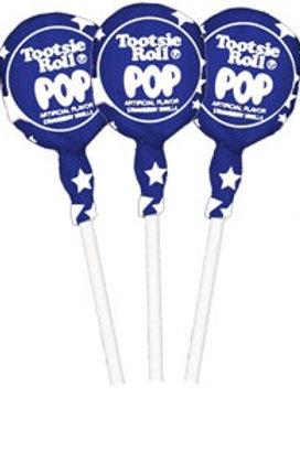 Premium Blue Raspberry Tootsie Roll Pops - 50 to 500 you choose