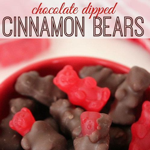 Milk Chocolate Covered Cinnamon Bears Gummy candy  - choose 5 - 30 LBs