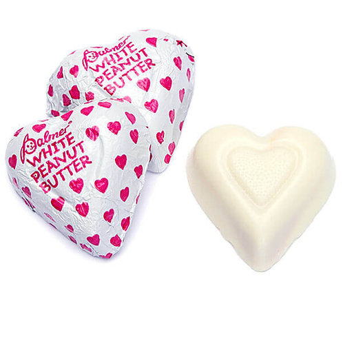 White Chocolate Peanut butter Hearts Candy - You Choose  5 - 30 LBs