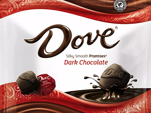 Dove Dark Chocolate Promises Wrapped candy  2 - 12 LBs