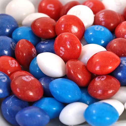 USA Red White & Blue Skittles Bulk Vending Candy - Choose Weight  4 - 40 LBs