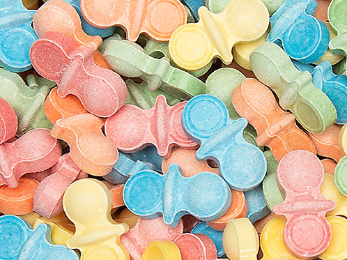 Oh Baby Pacifiers  Pastel Hard Bulk Candy - Choose 5 - 40 LBs