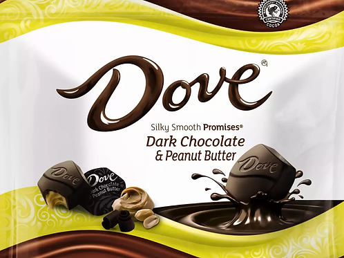 Dove Dark Chocolate Peanut Butter Promises Wrapped candy  2 - 12 LBs