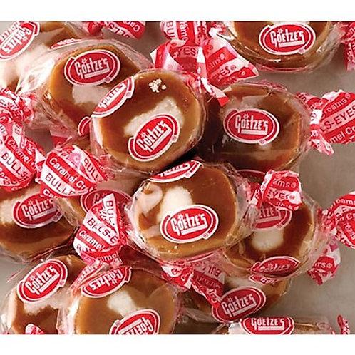 Goetze's Caramel Creams Bullseye Wrapped candy  4 - 30 LBs