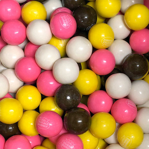 "Banana Split Dubble Bubble 1"" Gumballs  Choose Weight  4 - 30 LBs"